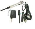 2 IN 1 WIRELESS OR WIRED KARAOKE PA DJ MICROPHONE SYSTEM