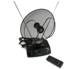Cornet F-8400 Uhf Vhf FM Digital HDTV Power Amplified Rotating Remote Indoor TV Antenna