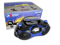 Axess PB2704 Portable BoomBox And Multimedia Player Blue