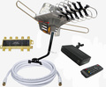 WA-2608 VHF/UHf Digital HD TV Antenna + iPheonix HD-002 HDMI DVR Converter Box + Mounting Pole+Coaxial Cable Bundle