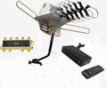 WA-2608 VHF/UHf Digital HD TV Antenna + iPheonix HD-002 HDMI DVR Converter Box + Mounting Pole Bundle